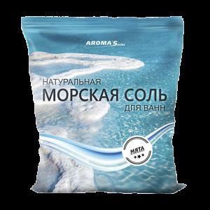 Соль морская для ванн натуральная с мятой перечной