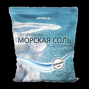 Соль морская для ванн натуральная с ромашкой