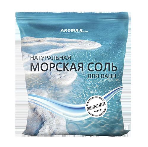 Соль морская для ванн натуральная с эвкалиптом
