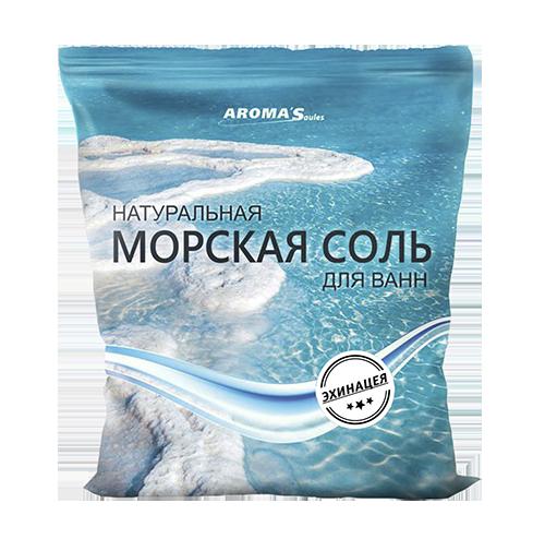 Соль морская для ванн натуральная с эхинацеей