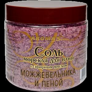 Соль для ванн с эфирным маслом мяты перечной и пеной