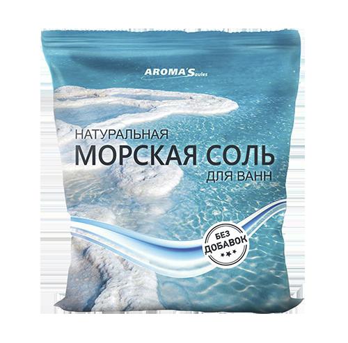 Соль морская для ванн натуральная без добавок