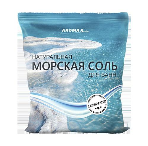 Соль морская для ванн натуральная с бишофитом