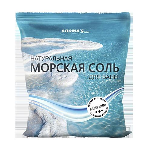 Соль морская для ванн натуральная с валерьяной