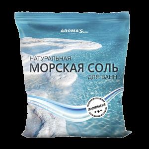 Соль морская для ванн натуральная с морскими водорослями