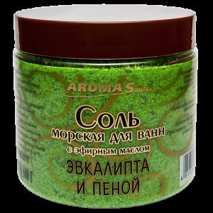 Соль для ванн с эфирным маслом эвкалипта и пеной
